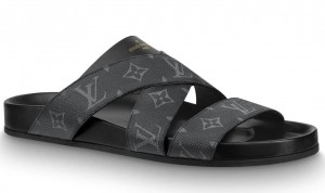 Louis Vuitton Mirabeau Mules In Monogram Eclipse Canvas