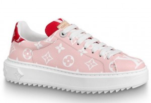 Louis Vuitton Rose/Rouge Time Out Sneaker