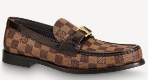 Louis Vuitton Major Loafers In Damier Ebene Canvas