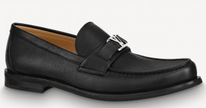 Louis Vuitton Major Loafers In Black Leather