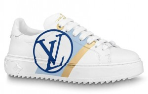 Louis Vuitton White/Blue Time Out Sneakers
