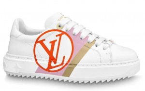 Louis Vuitton White/Red Time Out Sneakers