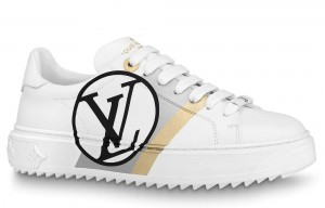 Louis Vuitton White/Black Time Out Sneakers
