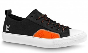 Louis Vuitton Tattoo Sneakers In Black Textile