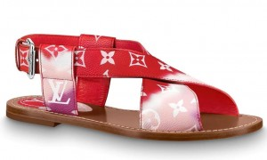 Louis Vuitton LV Escale Palma Flat Sandals Red