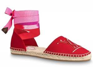 Louis Vuitton LV Escale Starboard Flat Espadrille Red