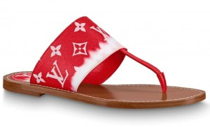 Louis Vuitton LV Escale Palma Flat Thong Red