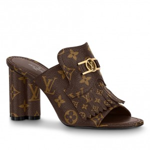 Louis Vuitton Indiana Mules In Monogram Canvas