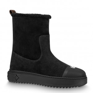 Louis Vuitton Black Breezy Flat Ankle Boots
