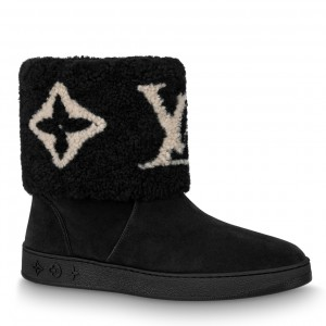 Louis Vuitton Black Snowdrop Flat Ankle Boots