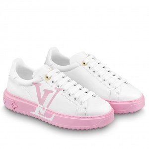 Louis Vuitton White/Pink Time Out Sneakers