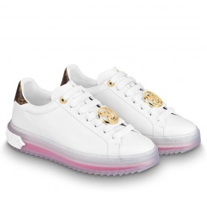 Louis Vuitton Time Out Sneakers With Pink Transparent Rubber