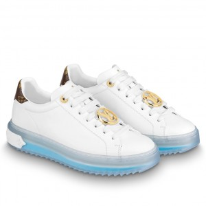 Louis Vuitton Time Out Sneakers With Blue Transparent Rubber