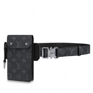 Louis Vuitton Utility 35mm Belt Monogram Eclipse M0235V