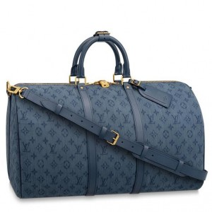Louis Vuitton Keepall Bandouliere 50 Monogram Denim M44645