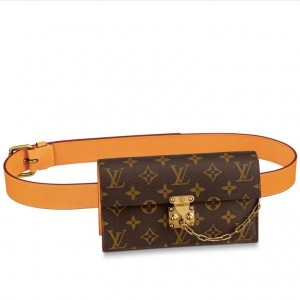 Louis Vuitton S Lock Belt Pouch PM Bag Monogram Canvas M44667