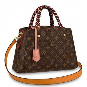 Louis Vuitton Montaigne BB Bag With Braided Handle Monogram M44671