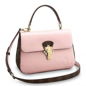 Louis Vuitton Pink Cherrywood Bag Patent Leather M53355