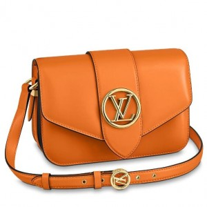 Louis Vuitton LV Pont 9 Bag In Orange Calfskin M55946