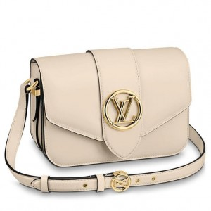 Louis Vuitton LV Pont 9 Bag In Cream Calfskin M55950