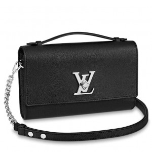 Louis Vuitton Black Lockme Clutch M56087