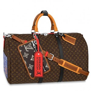 Louis Vuitton Keepall Bandouliere 50 Patchwork Bag M56855