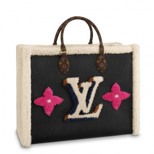 Louis Vuitton Onthego GM Bag Leather Shearling M56958
