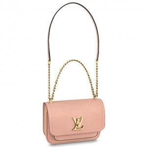 Louis Vuitton Lockme Chain PM Bag In Pink Leather M57071