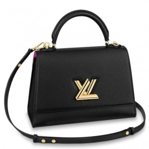 Louis Vuitton Twist One Handle MM Black Bag M57090