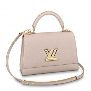Louis Vuitton Twist One Handle MM Greige Bag M57092