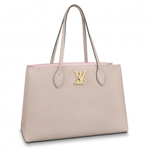 Louis Vuitton Lockme Shopper In Greige Leather M57346