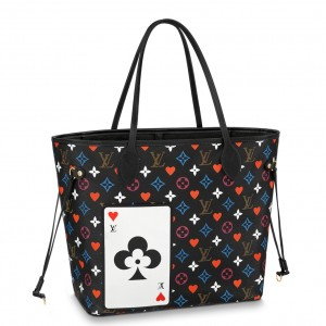 Louis Vuitton Game On Neverfull MM Black Bag M57483