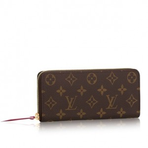Louis Vuitton Clemence Wallet Monogram Canvas M60742