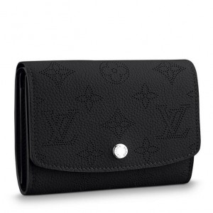 Louis Vuitton Iris Compact Wallet Mahina Leather M62540