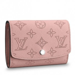Louis Vuitton Iris Compact Wallet Mahina Leather M62541