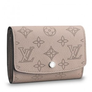 Louis Vuitton Iris Compact Wallet Mahina Leather M62542