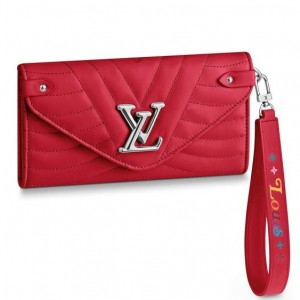 Louis Vuitton Red New Wave Long Wallet M63299
