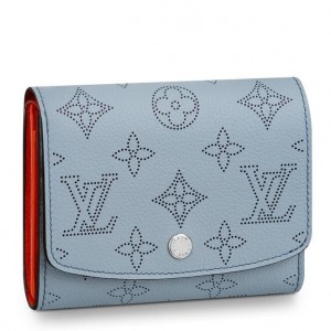 Louis Vuitton Iris Compact Wallet Mahina Leather M67406