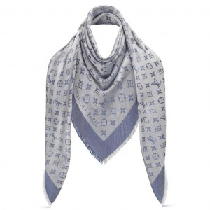 Louis Vuitton Denim Monogram Shawl M71382