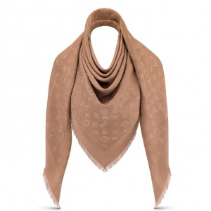 Louis Vuitton Cappuccino Monogram Shawl M75872
