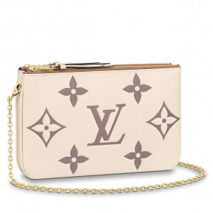 Louis Vuitton Pochette Double Zip Monogram Empreinte M80084