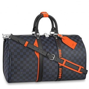 Louis Vuitton Keepall Bandouliere 45 Damier Cobalt Race N40166