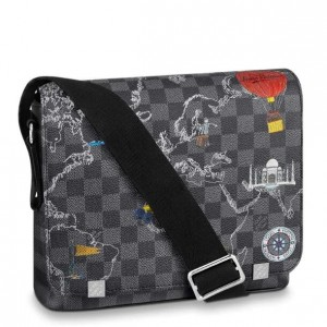 Louis Vuitton District PM Bag Damier Graphite Maps N40238