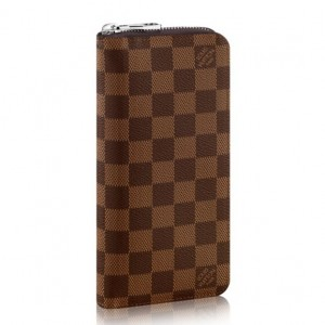 Louis Vuitton Zippy Wallet Vertical Damier Ebene N61207