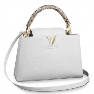 Louis Vuitton Capucines PM Bag With Python Handle N93045