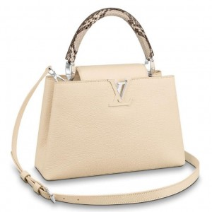 Louis Vuitton Capucines PM Bag With Python Handle N95832