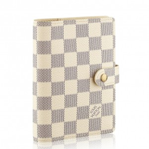 Louis Vuitton Small Ring Agenda Cover Damier Azur R20706