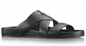 Louis Vuitton Mirabeau Mules In Black Calfskin