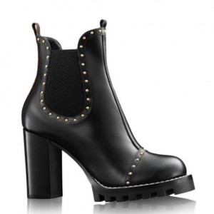Louis Vuitton Black Rockabily Ankle Boot