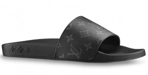 Louis Vuitton Waterfront Mules In Monogram Eclipse